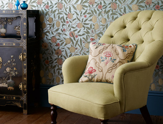 Fruit Wallpaper (1864) (via william-morris.co.uk)